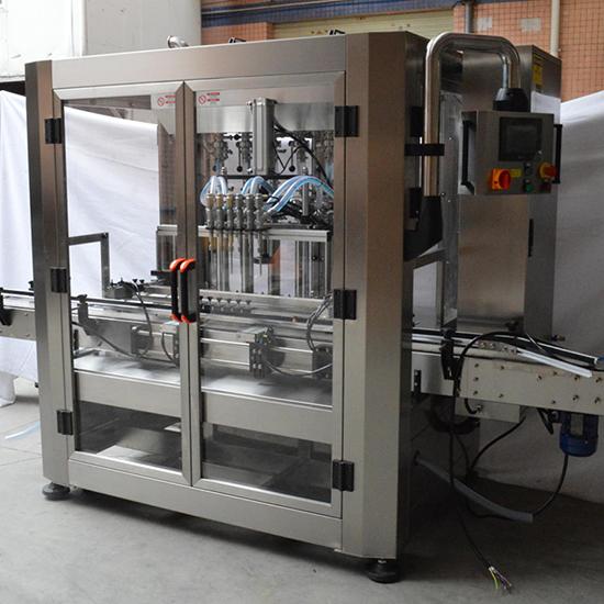 Automatic 6 Head Bottle Filler Shampoo Chemical Liquid Filling Machine